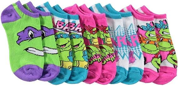 JoJo Siwa Girls 6 Pack No Show Socks Blacks Small- Fits Shoe Size 7.5-3.5