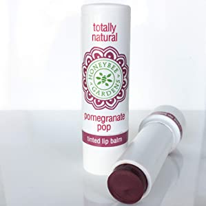 Honeybee Gardens Tinted Lip Balm (Pomegranate Pop) | Organic, Vegan, Gluten Free