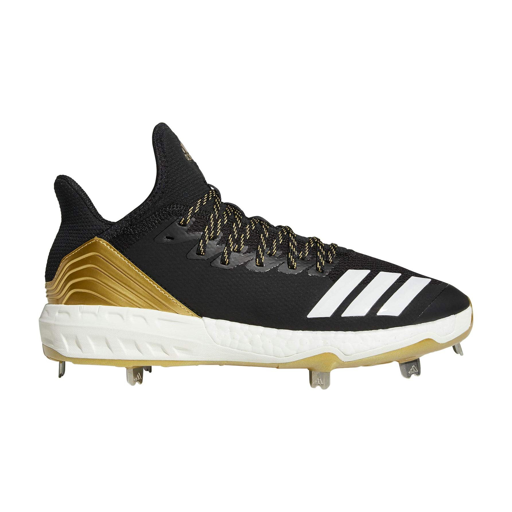 adidas Icon 4 Cleat Men's Baseball 10.5 Black-White-Carbon by adidas (Image #1)