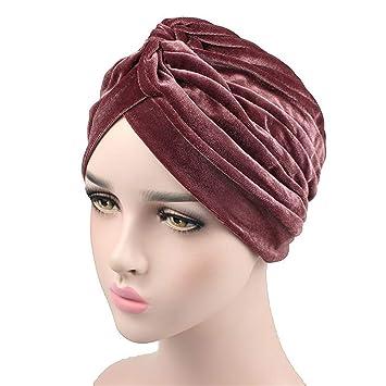 Amazon.com: New Fashion Women Velvet Turban Twist Stretch ...