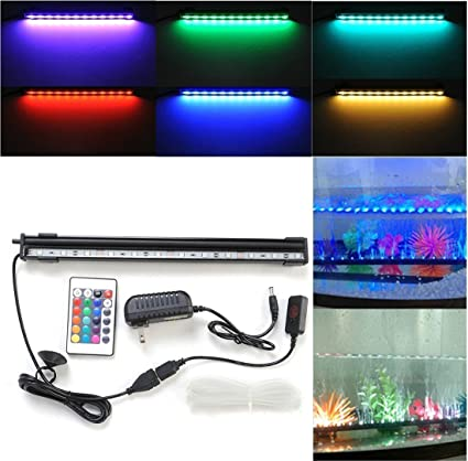 ProDeals LED Aquarium Light Fish Tank Light RGB 16 Colors Changing with Remote Control and Air