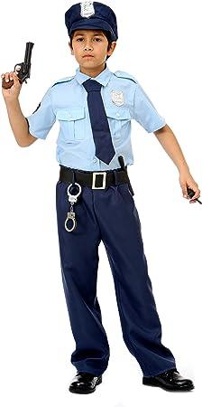 Disfraz de Policía Deluxe Para Niños – Uniforme de Policía Completo: Amazon.es: Juguetes y juegos