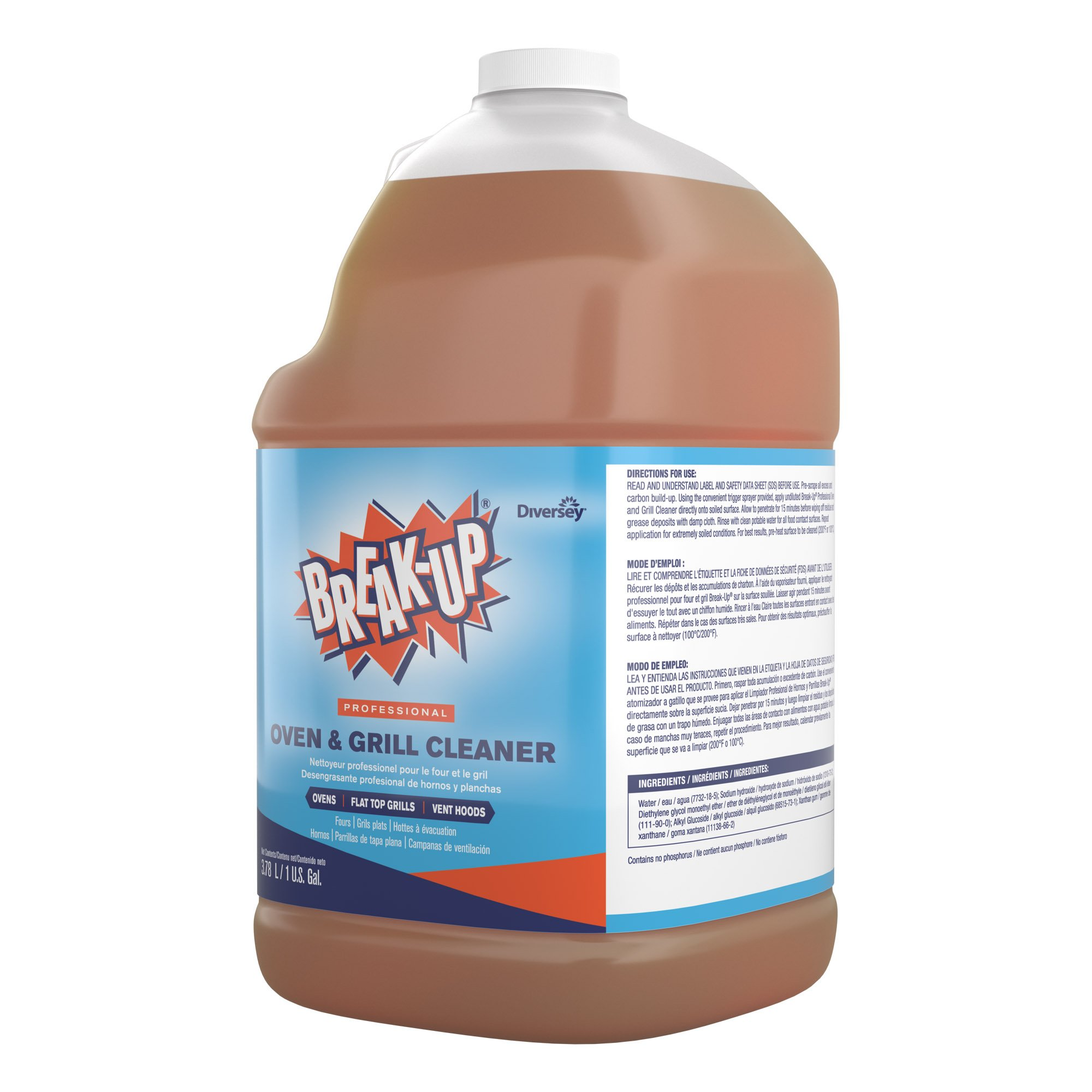 Diversey Break-Up Professional Oven & Grill Cleaner, 1 Gallon (4 Pack) by Diversey (Image #2)