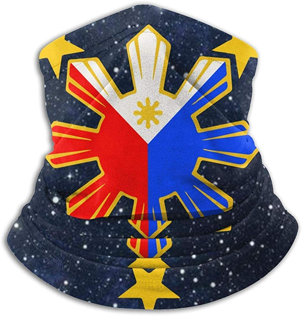 Flag of The Philippines Microfiber Neck Warmer Balaclavas Soft Fleece Headwear Face Scarf Mask for Winter