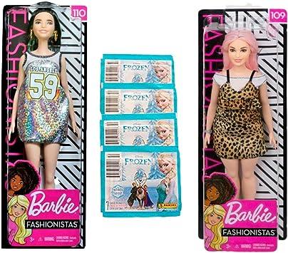 Amazon.es: Barbie Pack 2 Fashionista + Sobres Pegatinas Frozen ...