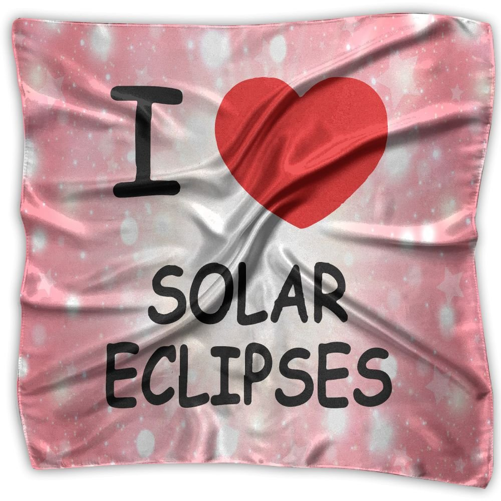 I HEART LUNAR ECLIPSES Women's Fashion Print Square Scarf Neckerchief Headdress S