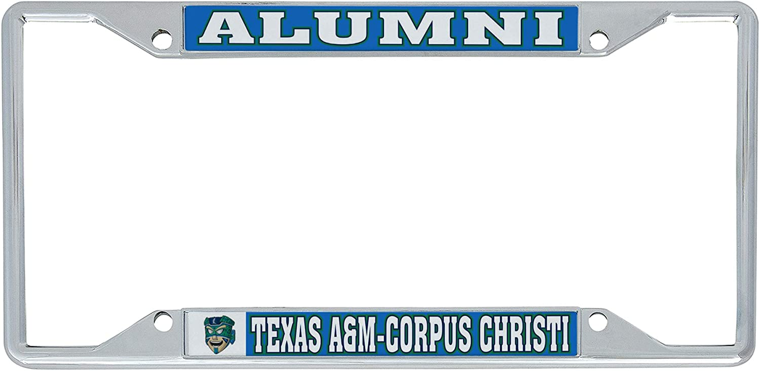 Desert Cactus Texas A/&M University-Corpus Christi TAMUCC Islanders NCAA Metal License Plate Frame for Front Back of Car Officially Licensed Alumni