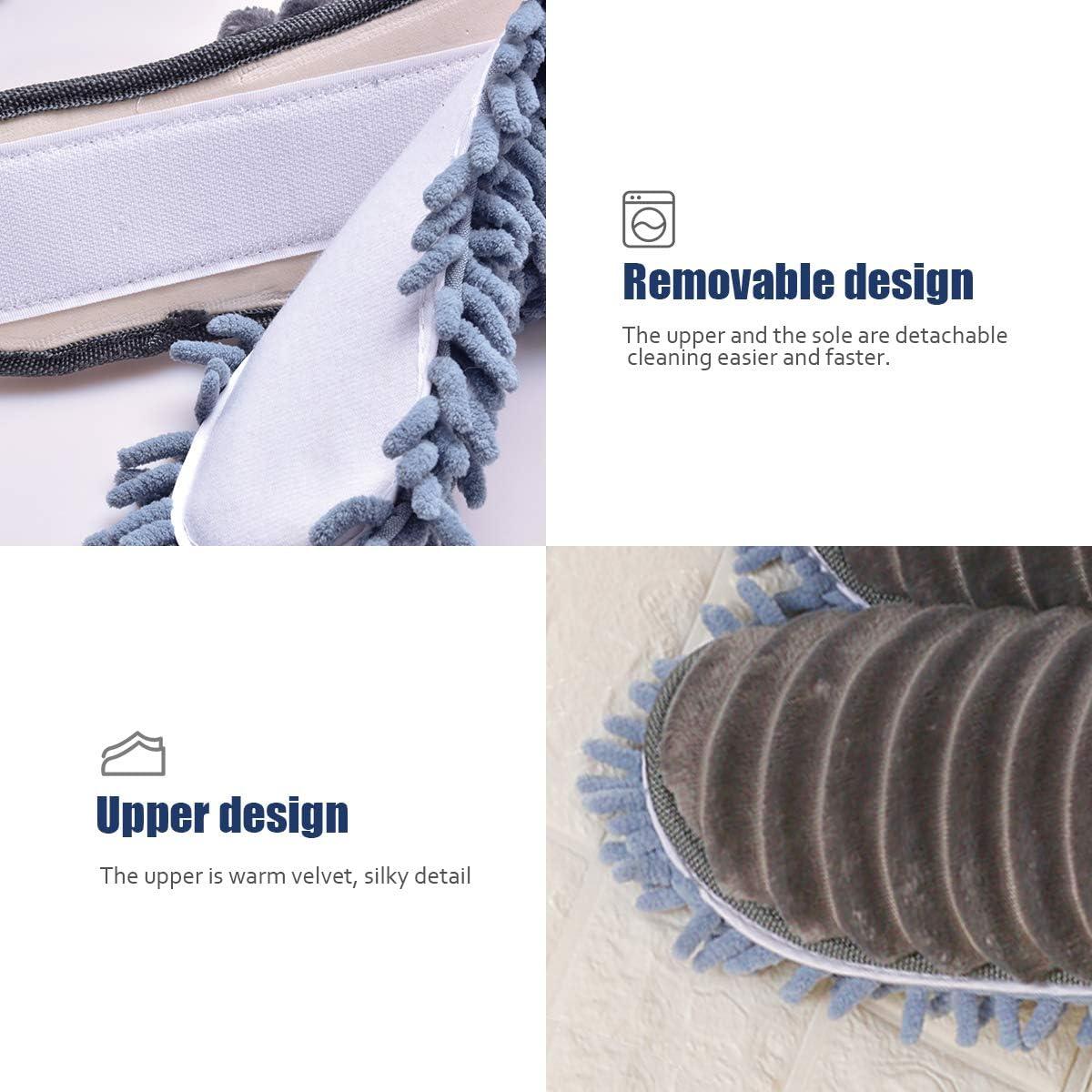 Rosa, EU 38-41 Xunlong Pantoufles Nettoyage Pantoufles Maison en Microfibre Chaussons pour Femme Mop De Nettoyage De Plancher Outil De Nettoyage De La Poussi/èRe Pantoufles