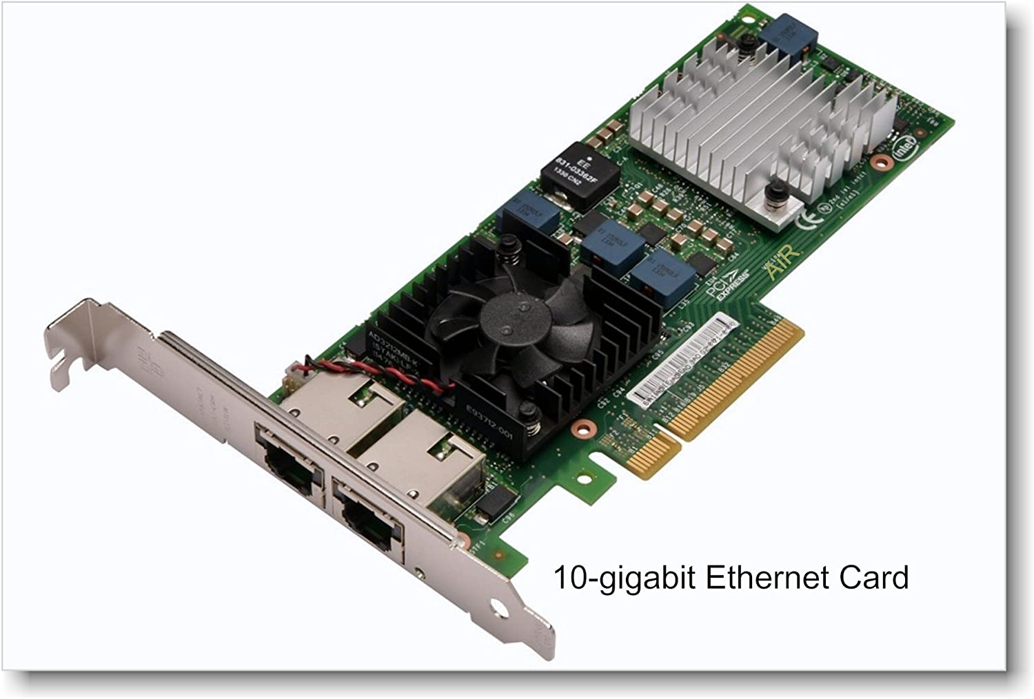 Intel 10 Gigabit BASE-T Ethernet Server Adapter Designed for Multi-Core Processors and Optimized for Virtualization X520-T2