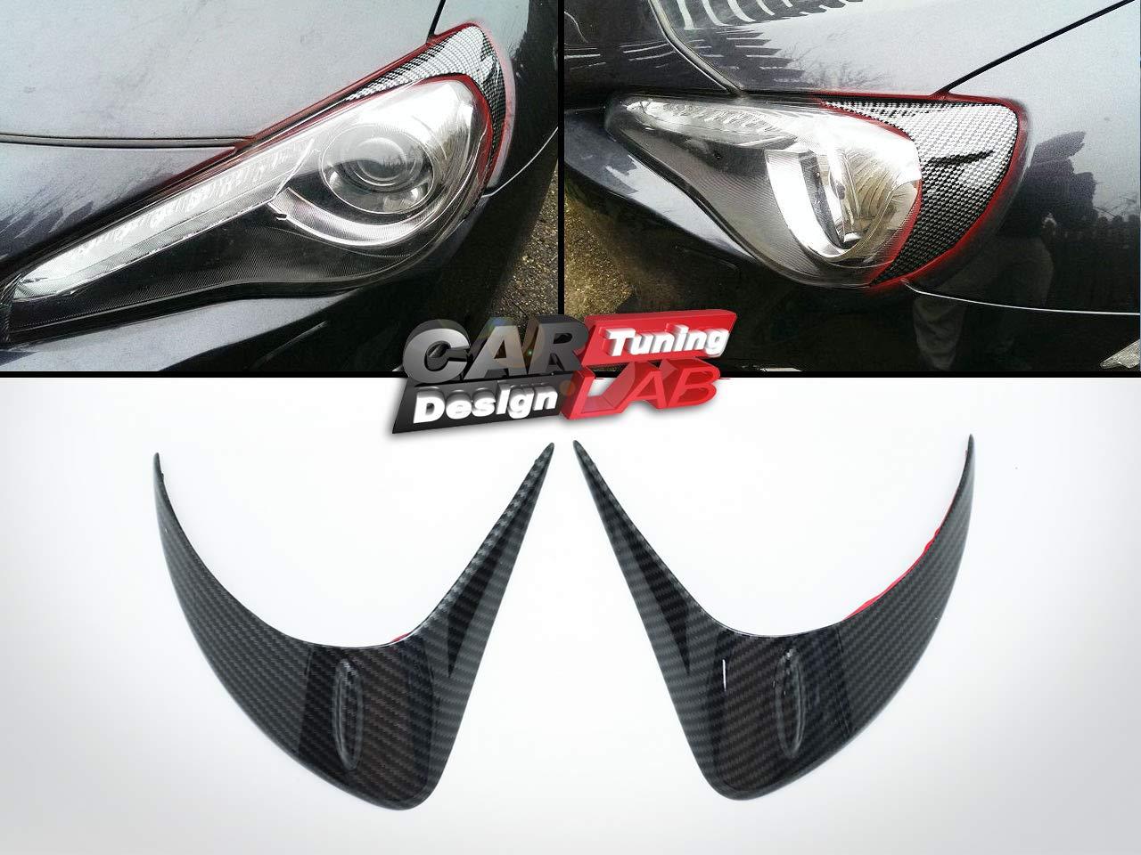 (2) Carbon palpebre fari sopracciglia cover CarLab