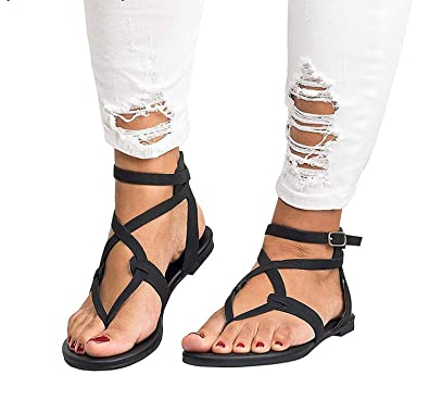 0ec5bf4f7 2019 Shoes Woman Bandage Summer Female Flat Sandals Casual Low Heels Ankle  Strap Women Sandals,