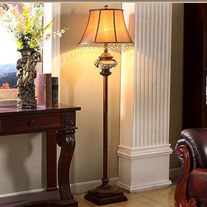 Frelt lámpara de pie Lámpara De Piso Retro Americana Lámpara ...