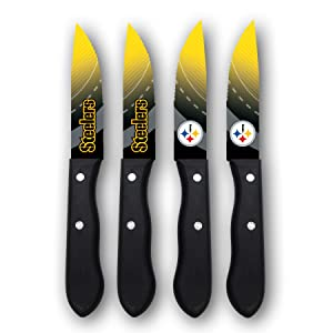 Sports Vault NFL Pittsburgh Steelers Steak Knive Set