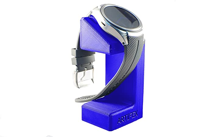 LG Urbane 2nd LTE Watch Stand, Artifex Charging Dock Stand for 2nd LTE Watch, New 3D Printed Technology, Smartwatch Cradle (Blue)