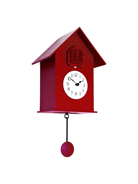 Diamantini & Domeniconi orologio a cucù meridiana 216di legno 18x 38x 15cm, rosso 8010395002444 216_Rosso