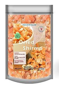Premium Grade Dried shrimp without salt from Thailand 3.52 oz No preservative