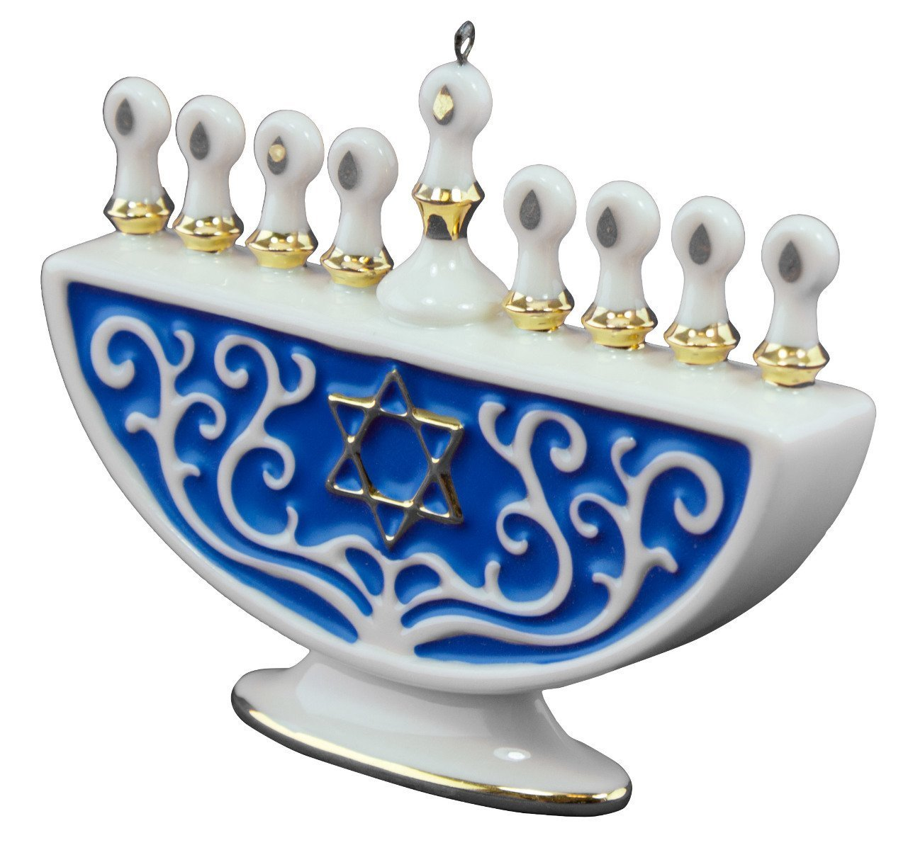 Hallmark The Festival of Lights Menorah Porcelain Ornament