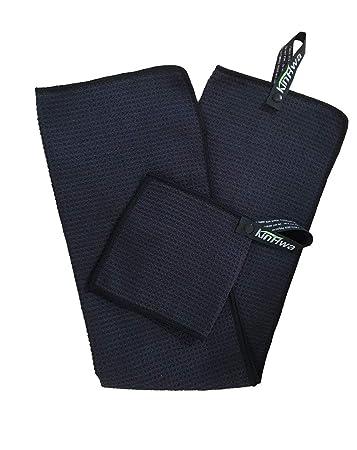 Amazon.com: Negro, Microfibra Juego de toalla de Golf 14