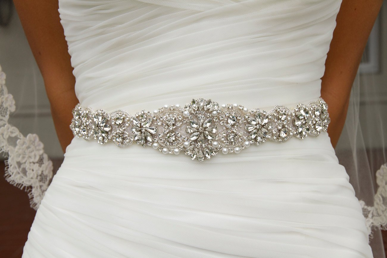 Wedding dress sash dress yp for Wedding dress belt sash