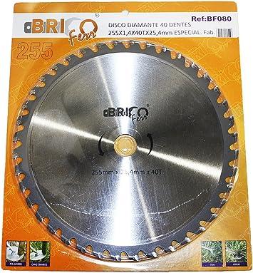 Bricoferr BF080 Disco cuchilla de Widia con 40 puntas para desbrozadora