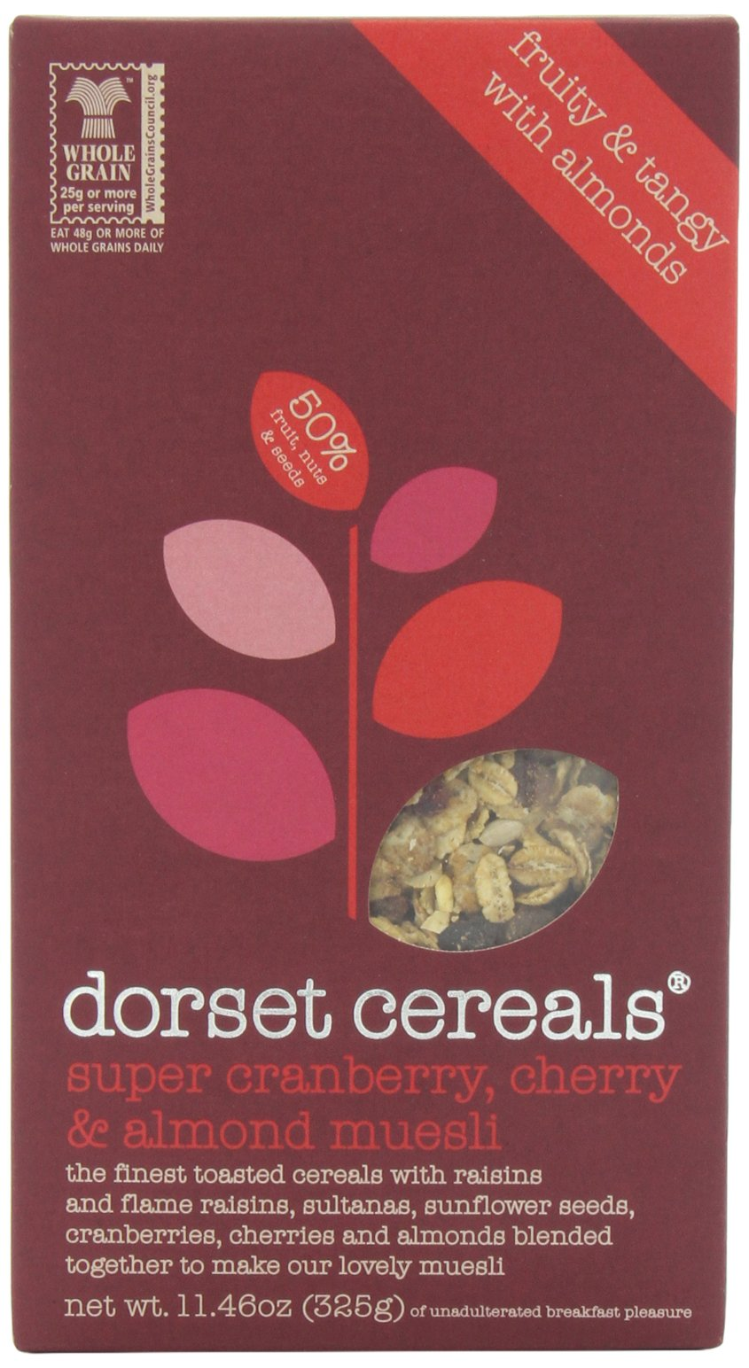 Dorset Cereals Muesli, Super Cranberry, Cherry and Almond, 11.46-Ounce (325g) (Pack of 5)