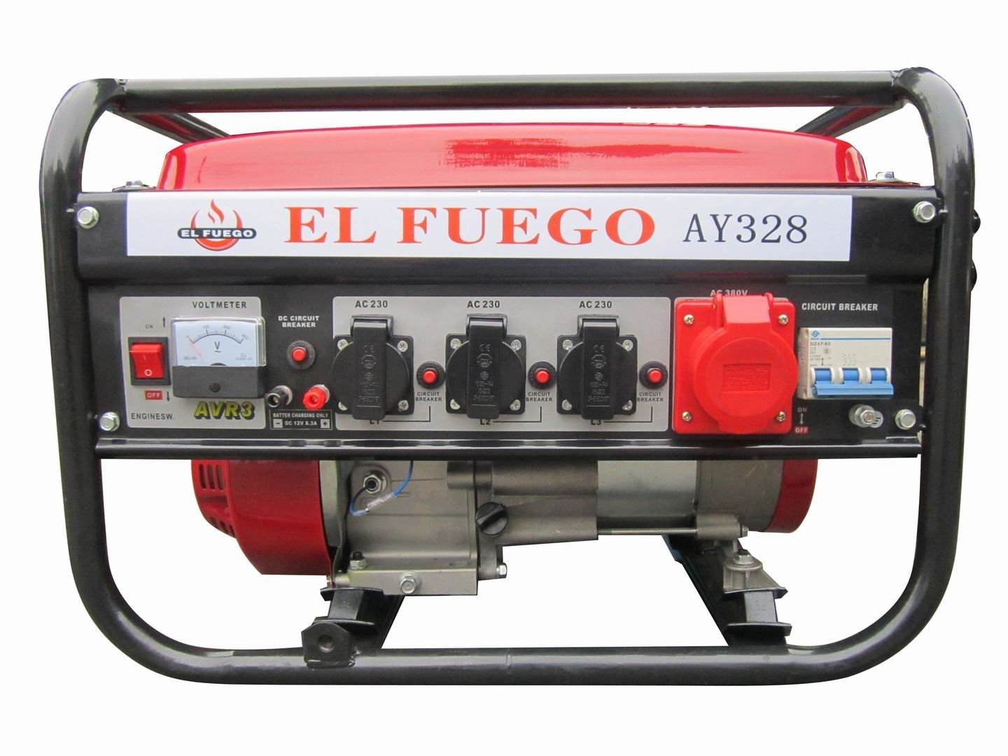 El Fuego Ay 328 Power Generator 55 Ps Garden Outdoors Wiring Dc Circuit Breakers