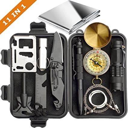 11 in 1 Survival Kits Camping Portable Multi-Tool Box Outdoor Products Set