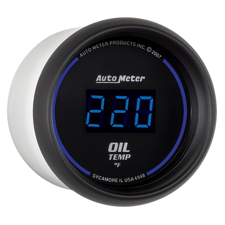 Auto Meter 6948 Cobalt Digital 2-1/16'' 0-340 F Oil Temperature Gauge