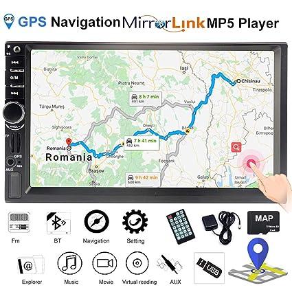 MuChangZi 7 Pulgadas HD 2 DIN Autoradio Navegacion GPS ...