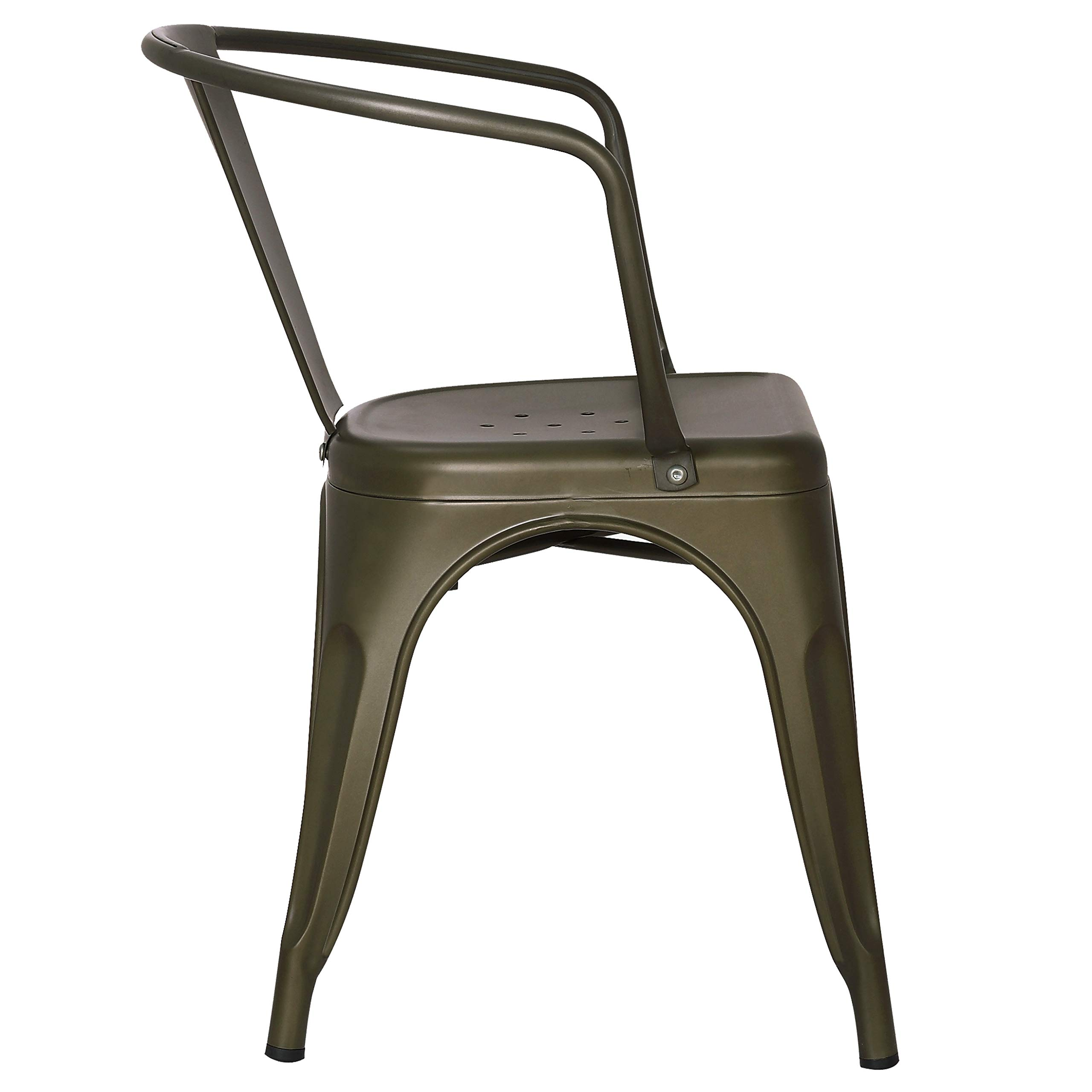 Poly and Bark Trattoria Arm Chair in Bronze (Set of 4) by POLY & BARK (Image #4)