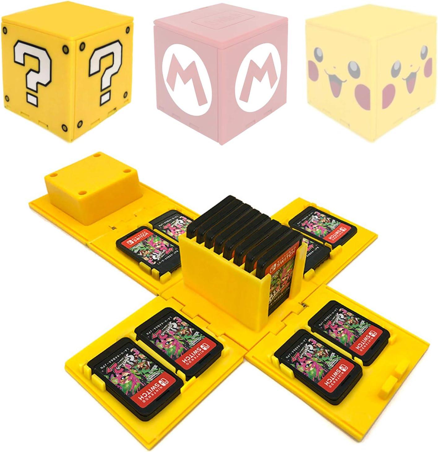 WIKEA Estuche para tarjeta de memoria Nintendo Switch, portatarjetas para videojuegos con 16 ranuras para tarjetas (Signo de interrogación): Amazon.es: Juguetes y juegos