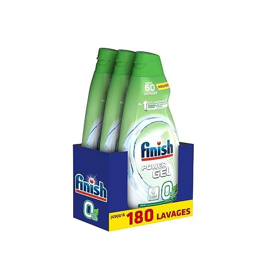 Finish Gel 0% Ecolabel Limpiador para lavavajillas 900 ml - Pack ...