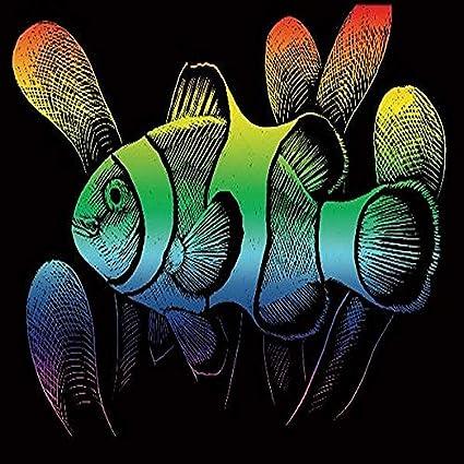 ROYAL BRUSH RAINFL-24 Rainbow Foil Engraving Art Kit Clownfish 8-Inch by 10-Inch
