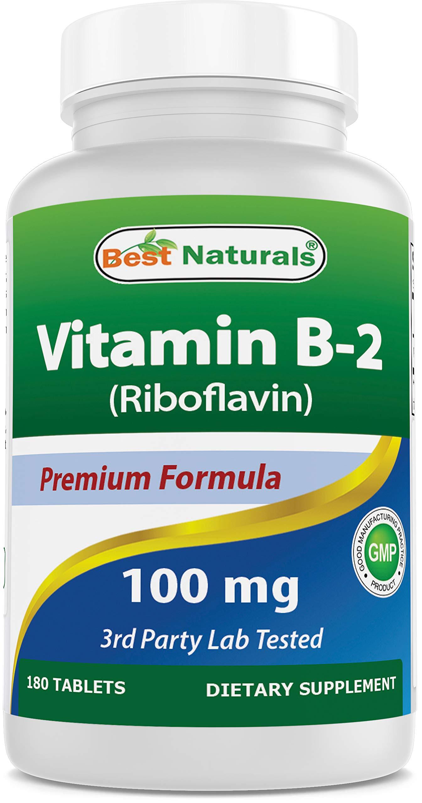 Best Naturals Vitamin B2 100 mg 180 Tablets