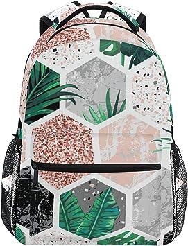 CPYang - Mochilas de mármol con patrón de hojas de palma para ...
