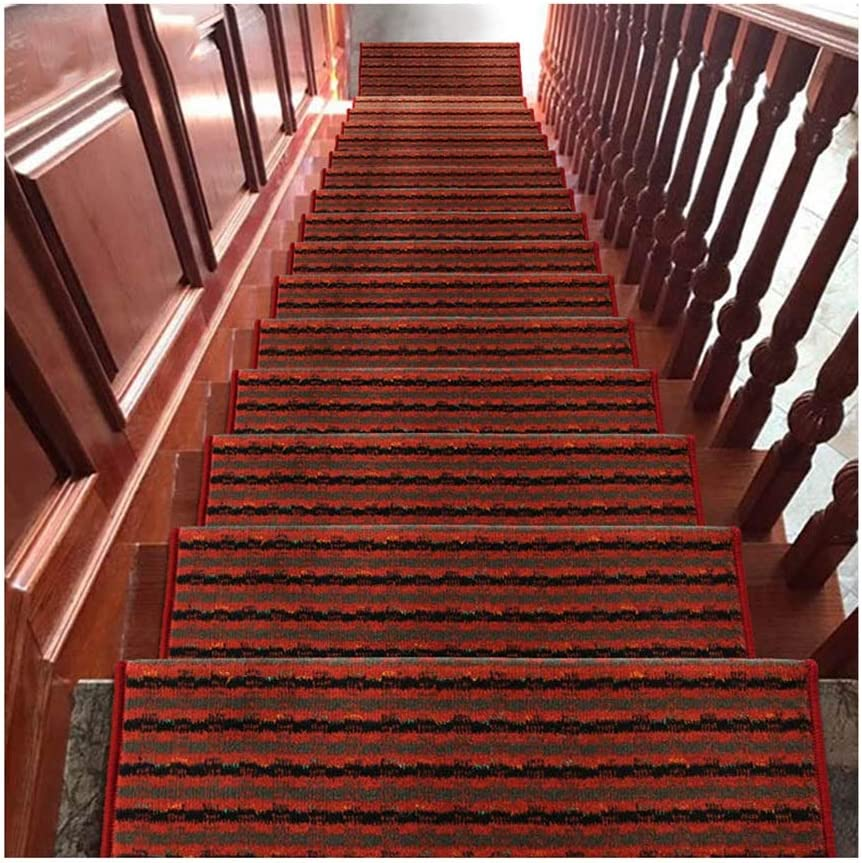 GYL Alfombras de escalera Huella de Peldaño, Cubierta de Protección Pegajosas Alfombra Alfombra de La Escalera Alfombra Antideslizante Paso for Cubierta Escalera de Caracol Alfombras para escaleras: Amazon.es: Hogar