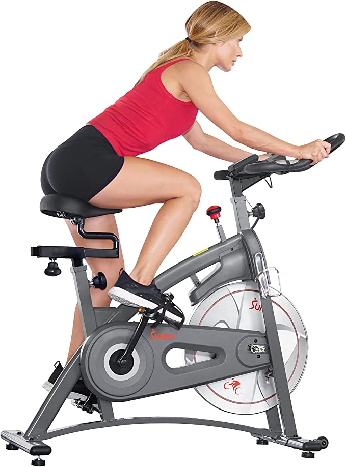 Sunny Health and Fitness Endurance Magnetic Belt Drive Indoor Cycling Exercise Bike