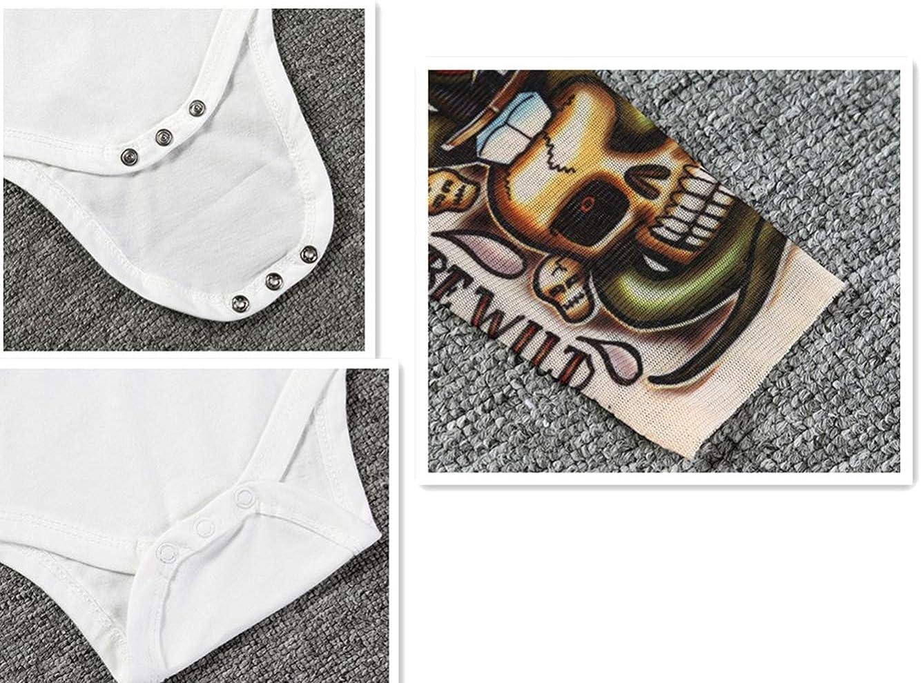 Dintang Familia Adulto Ni/ño Mameluco Infantil Estampado T-Shirt Ropa de Tatuaje Manga Larga Casual