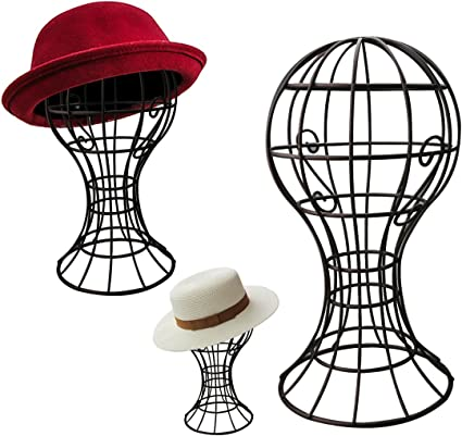 Présentoir Stand en Acier Inox pour Sac à Main Chapeau Stable et Durable