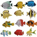 NUOLUX Ozean Tier tropischer Fisch Figur Modell Vorschul-Kinder Spielzeug-Pack 10