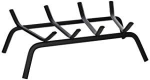 """Panacea Products Corp 18"""" Black Wrought Iron Fireplace Grate 15450Tv"""