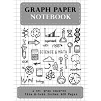 Graph Paper Notebook 1 CM. Gray Squares Size 8.5x11 Inches 120 Pages: Composition Notebook Blank Quad Ruled Student…