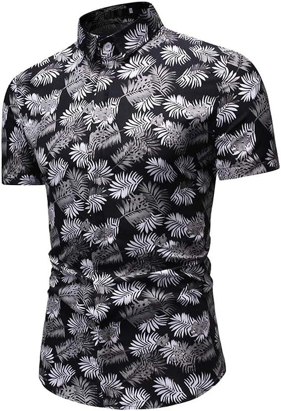 AG&T Hombres Camisas Hawaianas Causal en Playa Verano Manga Corta Algodón para Vacaciones Tops Camisa Hawaiana Florar Casual Manga Corta Ajuste Regular para Hombre: Amazon.es: Deportes y aire libre