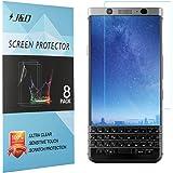 Protecteur d'Écran BlackBerry KEYone, J&D Protecteur d'Écran Clair HD Film de Bouclier Prémium pour BlackBerry KEYone (8 Pièces)