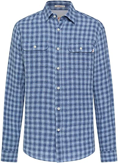 Hackett London Hkt Ln Chk Camisa, Azul (5bpsky/Blue 5bp), 42 ...