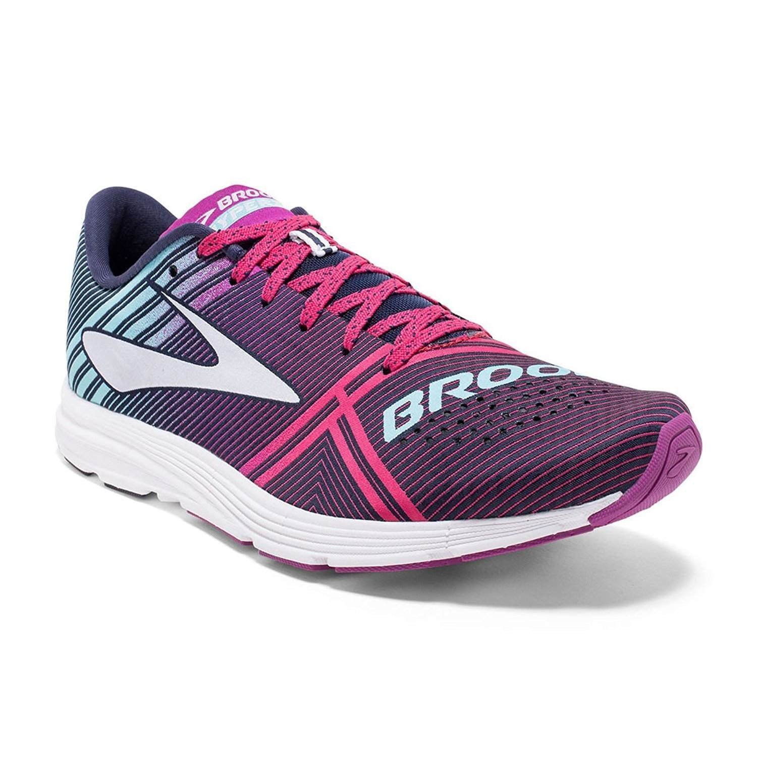 Brooks Womens Hyperion B01GF7ICZG 7.5 B(M) US|Peacoat/Purple Wine/Aruba Blue