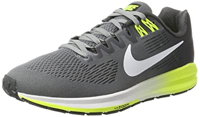 Nike Men's Air Zoom Structure 21 Running Shoe COOL  GREY/WHITE-ANTHRACITE-VOLT