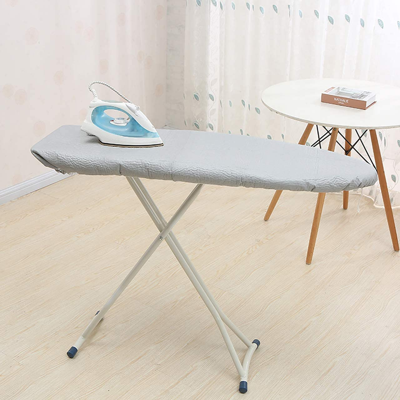 WGSY Ironing Board Cover with Silicone Coated 3 Layer Heat Resists Scorching /& Staining Stain Ironing Boards Protector with Tighten Drawstring 19x55 Fits Standard Size Ironing Boards