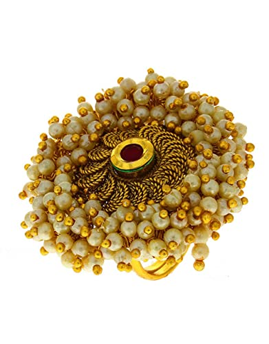 Anuradha Art Golden Finish Very Classy Royal Look with This Traditional Finger Ring for Women//Girls
