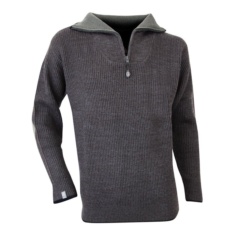 LMA 803170 CACAO Pull Col Camionneur, Anthracite, Taille 7 Lebeurre